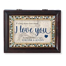 Roman Recipient Collection I Love You Jeweled Music Box Brown Large - $52.38
