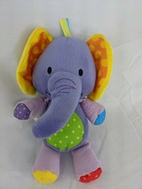 """Purple Elephant Plush 8"""" Kidbooks Crinkle Ears Stuffed Animal Toy - $14.95"""