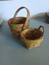 2 Small Longaberger Baskets - 1991 & 1995 - $9.15