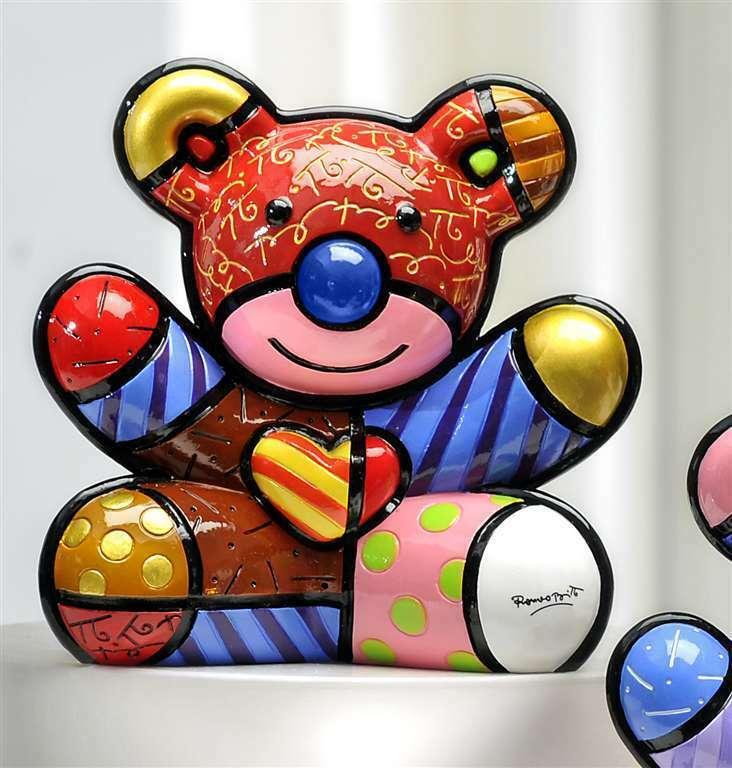 Romero Britto Love Bear Design Figurine Rare Collectible