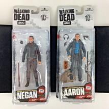 "New Set 2 Walking Dead Negan Aaron Action Figure 5"" Toy McFarlane AMC Gift - $49.45"