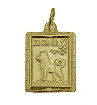 24K Gold Plated Chinese Year of the Dog Fortune Zodiac sign Charm Jewelry New - $17.71