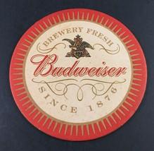 Anheuser-Busch Budweiser King of Beers Vintage Beer Bar Coaster Round - $4.94