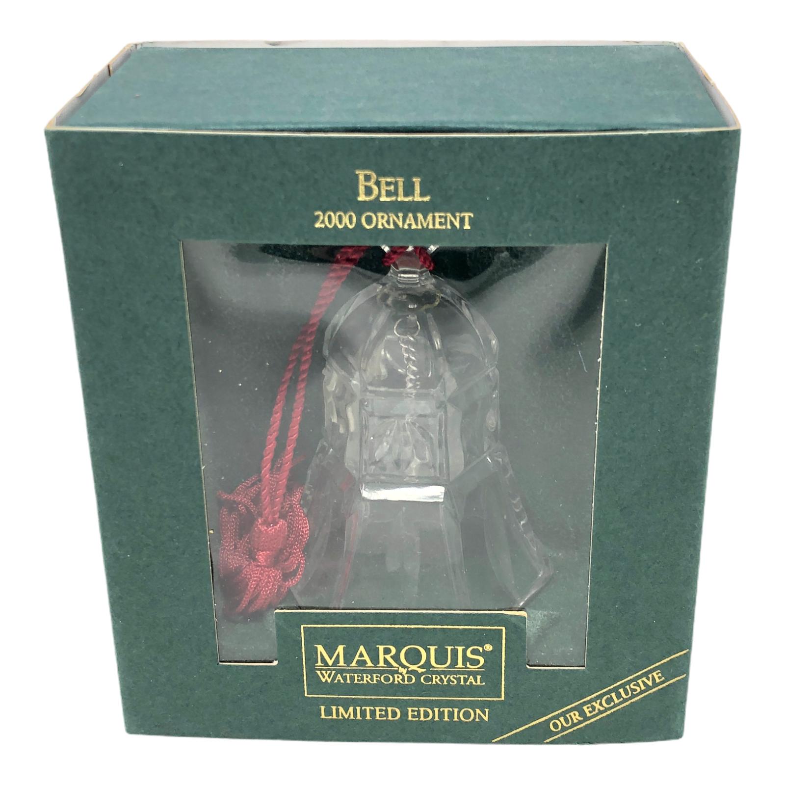 Vintage Waterford Crystal Bell Christmas Ornament Original Box 2000 - $21.77