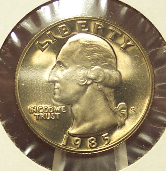 1985-S DCAM Proof Washington Quarter PF65 #319 image 2