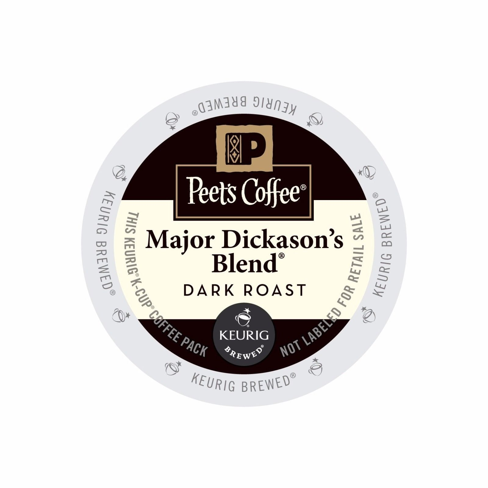 Peet's Coffee Major Dickason's Blend Coffee, 88 count Kcups, FREE SHIPPING