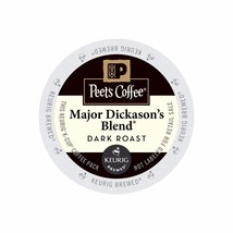 Peet's Coffee Major Dickason's Blend Coffee, 88 count Kcups, FREE SHIPPING  - $68.99