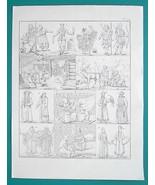 RUSSIA People Yakut Ostyak Kirgiz Magician Burat - 1828 Antique Print - $16.20
