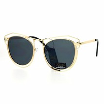 Womens Fashion Sunglasses Gold Metal Wired Double Frame Arrow Design UV 400 - $11.95