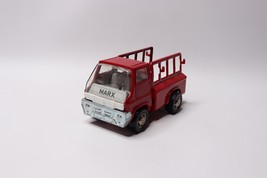 Vintage 1968 Marx Japan Small Metal Toy Truck Farm Truck Red - $33.61