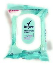 Degree Stay Fresh Deodorant Wipes White Flower & Lychee 25 Pre-Moistened... - $7.28