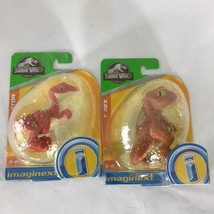 Imaginext Jurassic World Raptor & T Rex lot Dinosaurs - $15.99