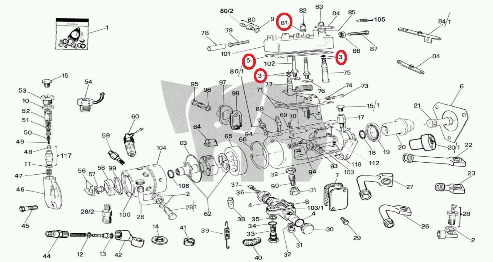 Cav Dpa Top Cover Gasket Fuel Leak Lucas and 35 similar items