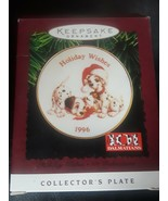 Hallmark Ornament 1996 Holiday Wishes Plate - Disney's 101 Dalmatians QX... - $4.90