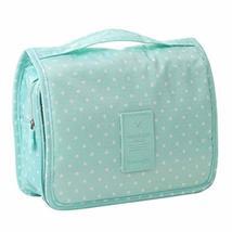Storage Bag Deep Green Polka Dot Cosmetic Foldable Handbag