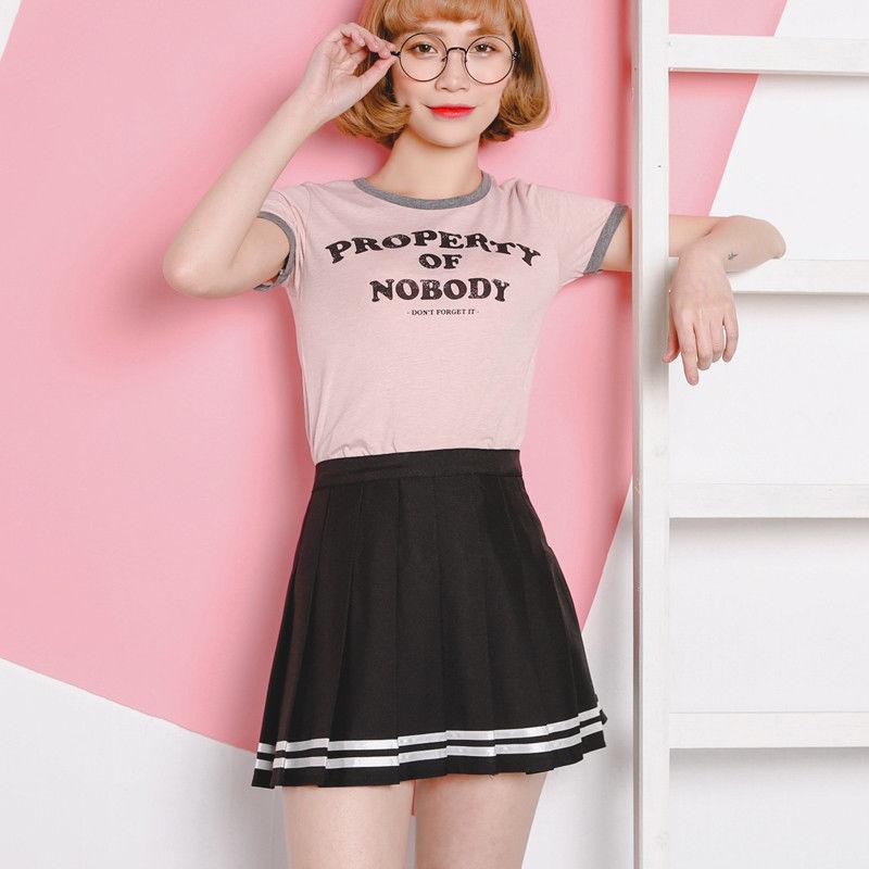 Cute Vintage Women Skirt Preppy Style High Waist Pleated Kawai Japanese Harajuku