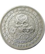 HB(73)US Hobo 1921 Morgan Dollar Skull Zombie Skeleton Silver Plated Cop... - $7.99