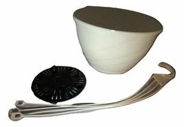 "12"" WHITE Plastic Hanging Baskets {Set of 2} - DECO SWIRL - $21.57"