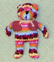 "Jellycat Mini Crochet Teddy Bear Tot Stuffed Animal With Wooden Hearts 6"" Toy - $24.75"