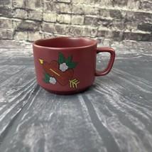 Starbucks Mug 2 Hearts Cupids Arrow Love 12oz White Flowers Red Embroide... - $32.66