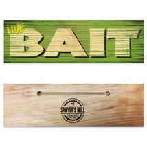 Live Bait - Handmade Wood Block Fishing Sign - $9.99