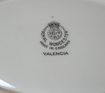 VALENCIA Royal Worcester UNDERPLATE for GRAVY BOAT China England Green Leaf
