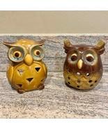Owl home decor ceramic tea light candle holders - $24.19