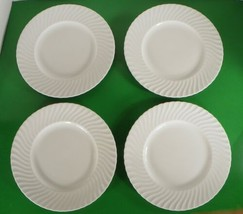 Royal Worcester SNOWFLAKE Luncheon Plate (s) LOT OF 4 White Bone China - $39.55