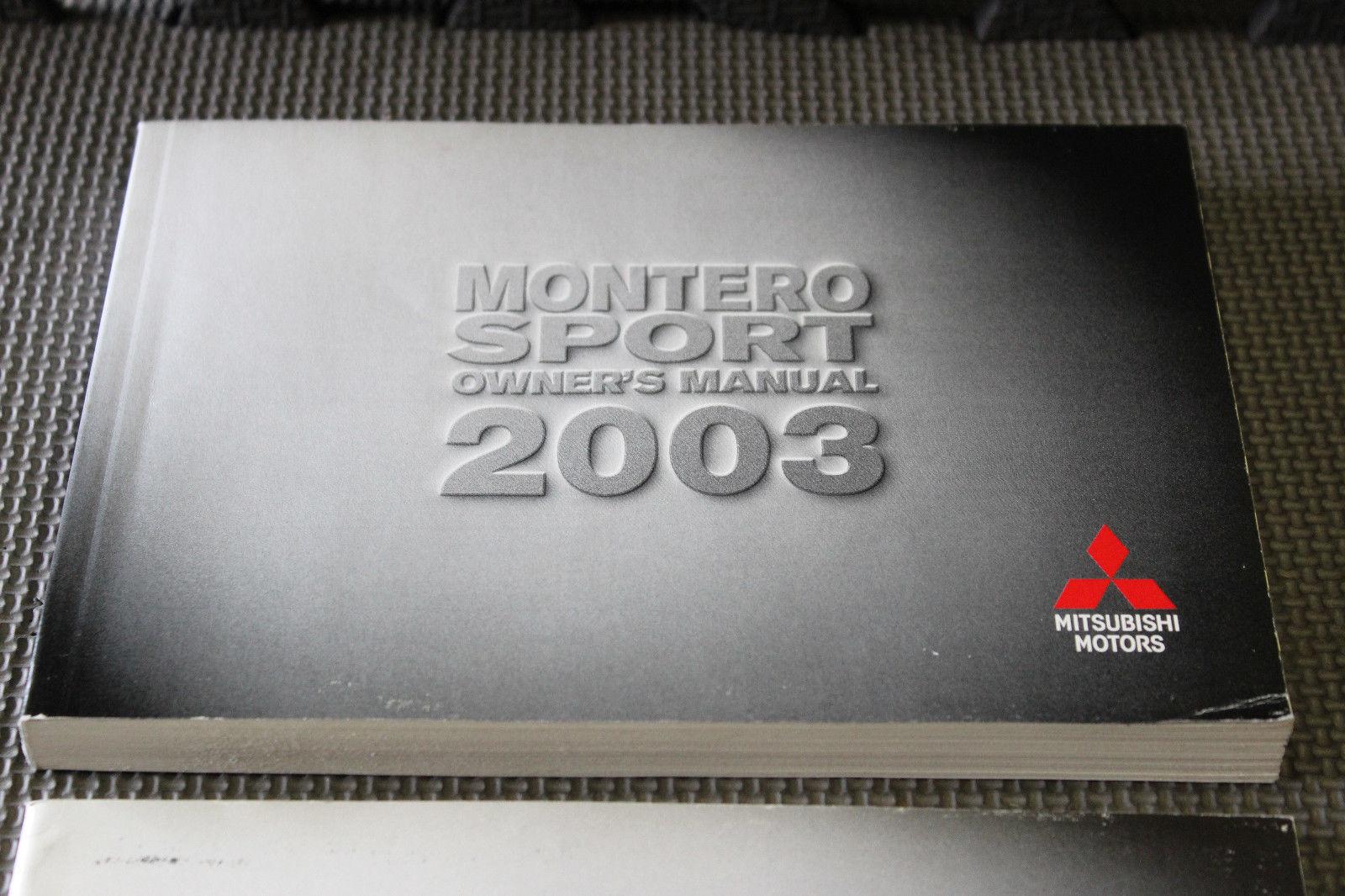 2002 MITSUBISHI MONTERO BOOKLET MANUAL OWNER OPERATOR GUIDE BOOK V479