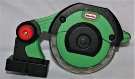 Vintage Little Tikes Green Circular Saw Tool Battery Operated Sound Moti... - $24.74