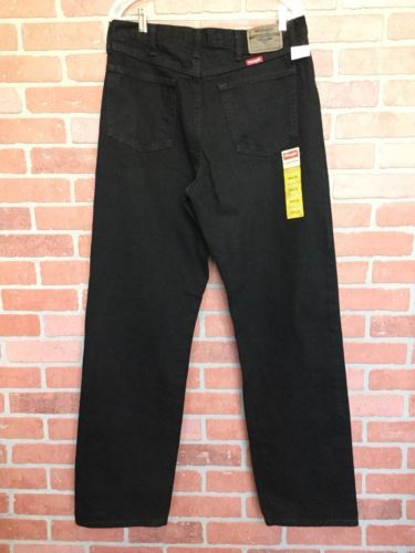 0492ade830 NWT Wrangler Men's 34 x 34 Relaxed Fit Jeans Black Work Pants ...