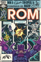 (CB-15} 1982 Marvel Comic Book: ROM #27 { Galactus app. } - $7.00
