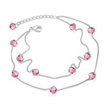 BAFFIN Colorful Beads Chain Charm Bracelets Crystals From Swarovski Elem... - $20.49