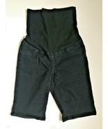 Pre-owned 1822 DENIM Maternity Black JEANS SHORTS sz S pregnancy pants e... - $11.78