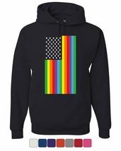 Gay Pride Rainbow Flag Hoodie LGBTQ Love Wins Equality - $19.25+