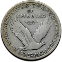 1917D Type I Standing Liberty Silver Quarter Coin Lot A 308 image 2