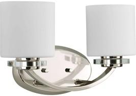 Bathroom Vanity Lighting 14-5/8 in. x 9 in. 2-Light Glass Shades Polishe... - $238.04