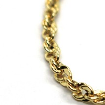 18K YELLOW GOLD ROPE MINI BRACELET, 7.1 INCHES, BRAIDED INFINITE FACETED LINK image 2