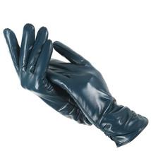 Women Girls Genuine Real Leather Classic Pleated Sheepskin Luxury Long G... - $19.99