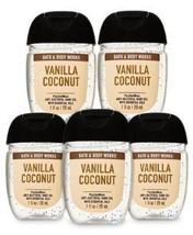 Bath and Body Works Pocketbac Vanilla Coconut Antibacterial Bundle 5 pie... - $24.99