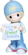 Precious Moments, You're The Greatest Grandma, Bisque Porcelain Figurine... - $65.37