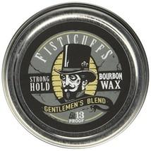 Fisticuffs Strong Hold Mustache Wax Gentlemen's Blend 1 OZ. Tin image 1
