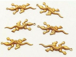 Gecko Charms, Set of 6