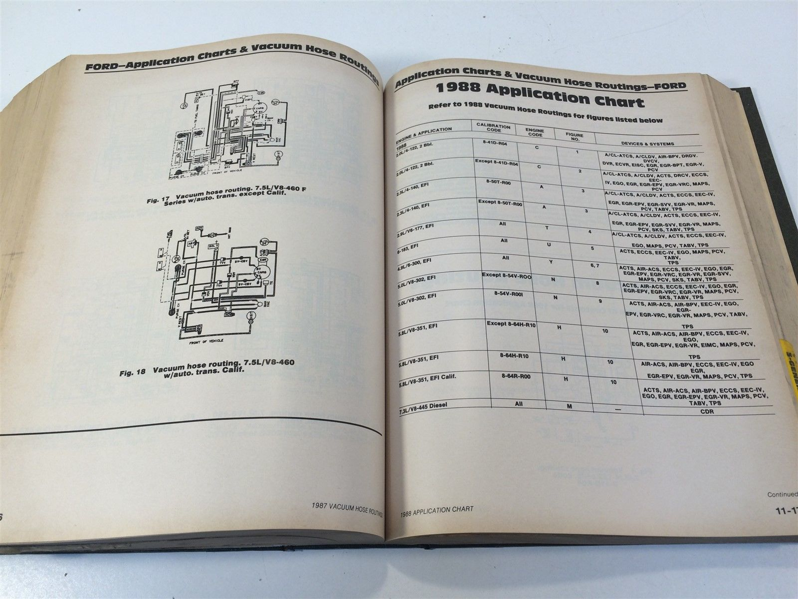 Motor Truck Engine Tune Up Electronics Manual 5th Edition 1986-91 Trade Edition