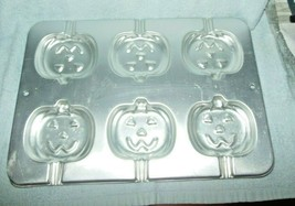 VNTG WILTON 1995 HALLOWEEN PUMPKIN JACK O LANTERN 6 CT CAKE CANDY POP MOLD - $9.99