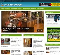 Home Improvement Mobile Responsive WordPress Blog - Includes Hosting & S... - $21.05