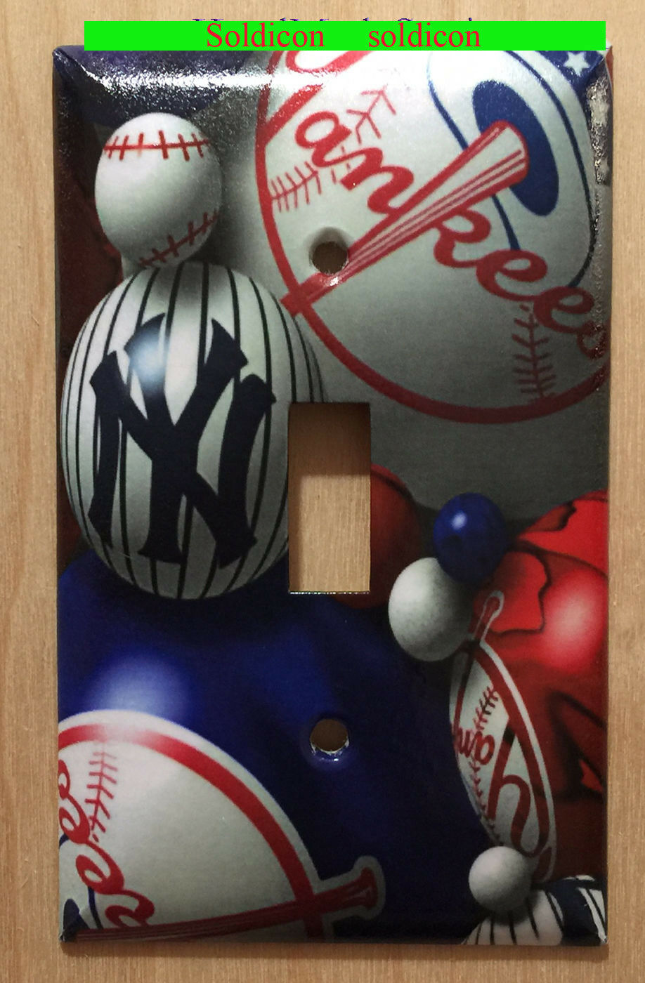 NY NYC New York Yankees baseball Light Switch Outlet Wall Cover Plate Home Decor