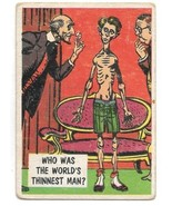 Isolation Booth Trading Card #3 Topps 1957 Who Was The World's Thinnest ... - $3.50
