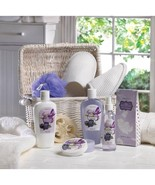 Spa Basket Gift Set Storage Canister With Handle Bath Gift Set - $22.77