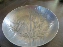 Vintage Everlast Hammered Aluminum Bamboo Candy Dish - $9.89